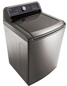 "WT7300CV LG 27"" Top Load Smart Washer with TurboWash3D Technology and ColdWash Technology - Graphite Steel"