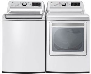 """WT7300CW LG 27"""" Top Load Smart Washer with TurboWash3D Technology and ColdWash Technology - White"""