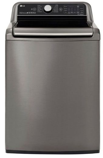 "WT7800CV LG 28"" 5.4 cu. ft. Mega Capacity Top Load Washer with Turbowash Technology and Wi-Fi Enabled - Graphite Steel"