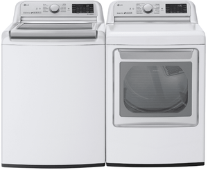 "WT7800CW LG 28"" 5.4 cu. ft. Mega Capacity Top Load Washer with Turbowash Technology and Wi-Fi Enabled - White"