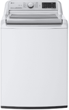 """WT7800CW LG 28"""" 5.4 cu. ft. Mega Capacity Top Load Washer with Turbowash Technology and Wi-Fi Enabled - White"""
