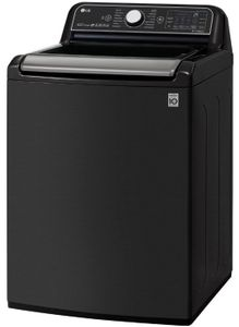 "WT7900HBA LG 27"" 5.5 cu. ft. Mega Capacity Top Load Washer with Turbowash3D Technology and LG SmartThinQ - Black Steel"