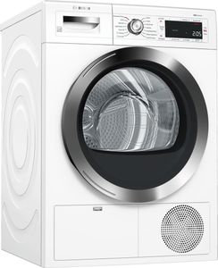 """WTG865H2UC Bosch  24"""" 800 Series Front Load Compact Condensation Dryer with Sensor Controlled Automatic Drying Programs and LED Display - White"""