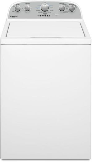"""WTW4955HW Whirlpool 28"""" Top Load  3.8 cu. ft Washer with Water Level Selection and Dual Action Agitator - White"""