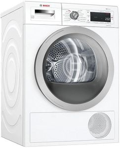 """WTW87NH1UC Bosch 24"""" 500 Series 4.0 cu ft Compact Heat Pump Dryer with Home Connect - White"""