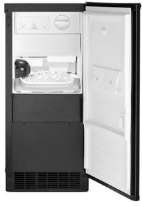 "WUI75X15HB Whirlpool 15"" Undercounter Ice Maker with LED Interior Lighting and Clear Ice Technology - Black"