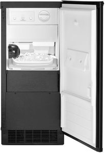 """WUI75X15HB Whirlpool 15"""" Undercounter Ice Maker with LED Interior Lighting and Clear Ice Technology - Black"""