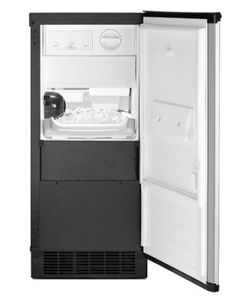 "WUI75X15HZ Whirlpool 15"" Undercounter Ice Maker with LED Interior Lighting and Clear Ice Technology - Fingerprint Resistant Stainless Steel"
