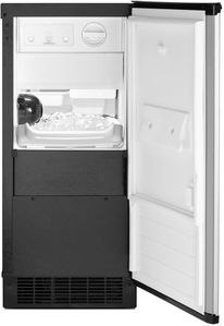 """WUI75X15HZ Whirlpool 15"""" Undercounter Ice Maker with LED Interior Lighting and Clear Ice Technology - Fingerprint Resistant Stainless Steel"""