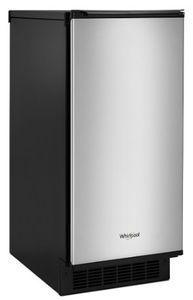 """WUI95X15HZ Whirlpool 15"""" Undercounter Ice Maker with Pump and Clear Ice Technology - Fingerprint Resistant Stainless Steel"""
