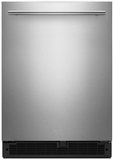 "WUR35X24HZ Whirlpool 24"" Undercounter Refrigerator with Towel Bar Handle and Single Temperature Controlled Zone - Fingerprint Resistant Stainless Steel"