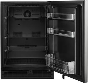 """WUR50X24HZ Whirlpool 24"""" 5.1 Cu. Ft. Undercounter Refrigerator with Towel Bar Handle and Single Temperature Controlled Zone - Fingerprint Resistant Stainless Steel"""