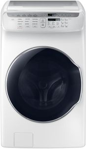 "WV55M9600AW Samsung 27"" 5.5 cu. ft. Capacity Front Load Washer With FlexWash and SteamWash - White"
