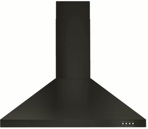 "WVW53UC0HV Whirlpool 30"" Contemporary Wall Mount Range Hood with LED Task Lighting and Three Fan Speeds - Black Stainless Steel"