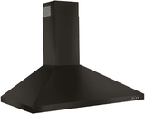 "WVW53UC6HV Whirlpool 36"" Contemporary Wall Mount Range Hood with LED Task Lighting and Three Fan Speeds - Black Stainless Steel"