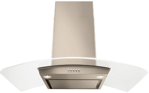 "WVWA5UC0HN Whirlpool 30"" Modern Glass Wall Mount Range Hood with LED Task Lighting and Sound Insulation - Sunset Bronze"