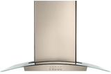 "WVWA5UC6HN Whirlpool 36"" Modern Glass Wall Mount Range Hood with Glass Edge LED Lighting and Three Fan Speeds - Sunset Bronze"