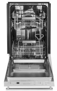 "ZDT165SSLSS Monogram 18"" Integrated Dishwasher with 3 Level Wash System and Piranha Hard Food Disposer - Stainless Steel"