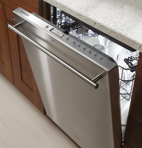 """ZDT975SSJSS Monogram 24"""" Fully Integrated Dishwasher with 5 Wash Settings and Hard Food Disposer - Stainless Steel"""