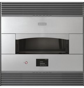 "ZEP30FLSS Monogram 30"" Built-in Single Pizza Oven with Electric Heating Zones and Touch LCD Controls - Stainless Steel"