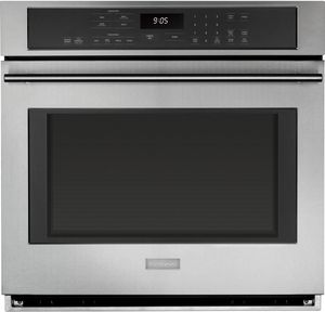 "ZET9050SHSS Monogram 30"" Electric Single Wall Oven with True European Convection with Direct Air - Stainless Steel"