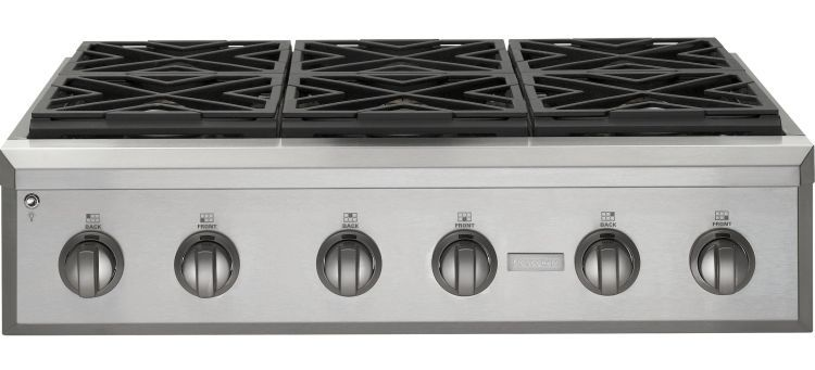 Zgu366npss Monogram 36 Pro Style Gas Cooktop With 6 Burners Natural Stainless Steel