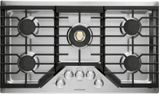 "ZGU36RSLSS Monorgram 36"" Deep-Recessed Natural Gas Cook Top with Precision Knobs and TriRing Burner - Stainless Steel"