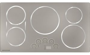 """ZHU36RSPSS Monogram 36"""" Induction Cooktop with 5 Cooking Zones - Silver"""