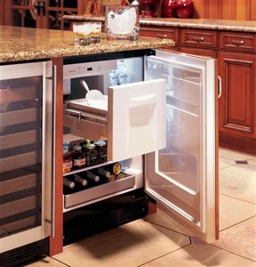 """ZIBS240NSS Monogram 24"""" Built-In Counter Depth Bar Refrigerator with Icemaker - Stainless Steel"""