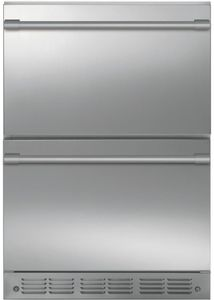 """ZIDS240NSS Monogram 24"""" Built-In Counter Depth Refrigerator Double-Drawer - Stainless Steel"""
