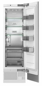 "ZIR240NPKII Monogram 24"" Built-In Integrated Column All Refrigerator with Temperature Controlled Drawers and Upfront Electronic Touch Controls - Custom Panel"