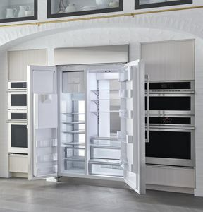 """ZISB480DNII Monogram 48"""" Built-In Counter Depth Side-by-Side Refrigerator with LED Lighting and WiFi Connect - Custom Panel"""