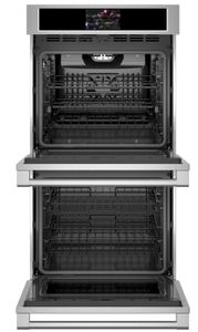 """ZKD90DPSNSS Monogram 27"""" Statement Collection Double Electric Wall Oven with True European Convection and WiFi Connect - Stainless Steel"""