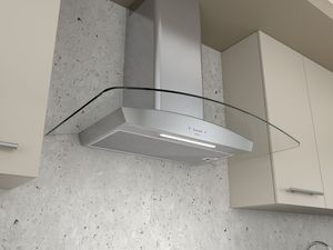 """ZRVE30BGC Zephyr 30"""" Essentials Collection Ravenna Wall Mount Hood with ACT Technology and 200 - 600 CFM Blower - Stainless Steel with Clear Glass"""