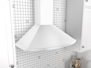 "ZSA-E30DW Zephyr 30""  Savona Wall Mount Chimney Range Hood with 685 CFM Blower - White"