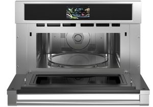 """ZSB9232NSS Monogram 30"""" Statement Collection Built-In Oven with Advantium Speedcook Technology - 240V - Stainless Steel"""