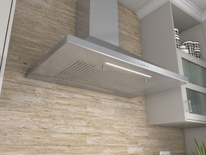 """ZSI-E36BS Zephyr 36"""" Siena Wall Hood with 650 CFM Internal Blower and ICON Touch Controls - Stainless Steel"""
