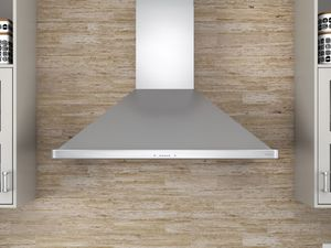 """ZSPE36BS Zephyr 36"""" Sienna Pro Wall Mount Hood with BriteStrip LED Lighting and Hybrid Baffle Filters - Stainless Steel"""