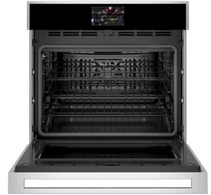 """ZTS90DSSNSS Monogram 30"""" Minimalist Collection Single Electric Wall Oven with True European Convection and WiFi Connect - Stainless Steel"""