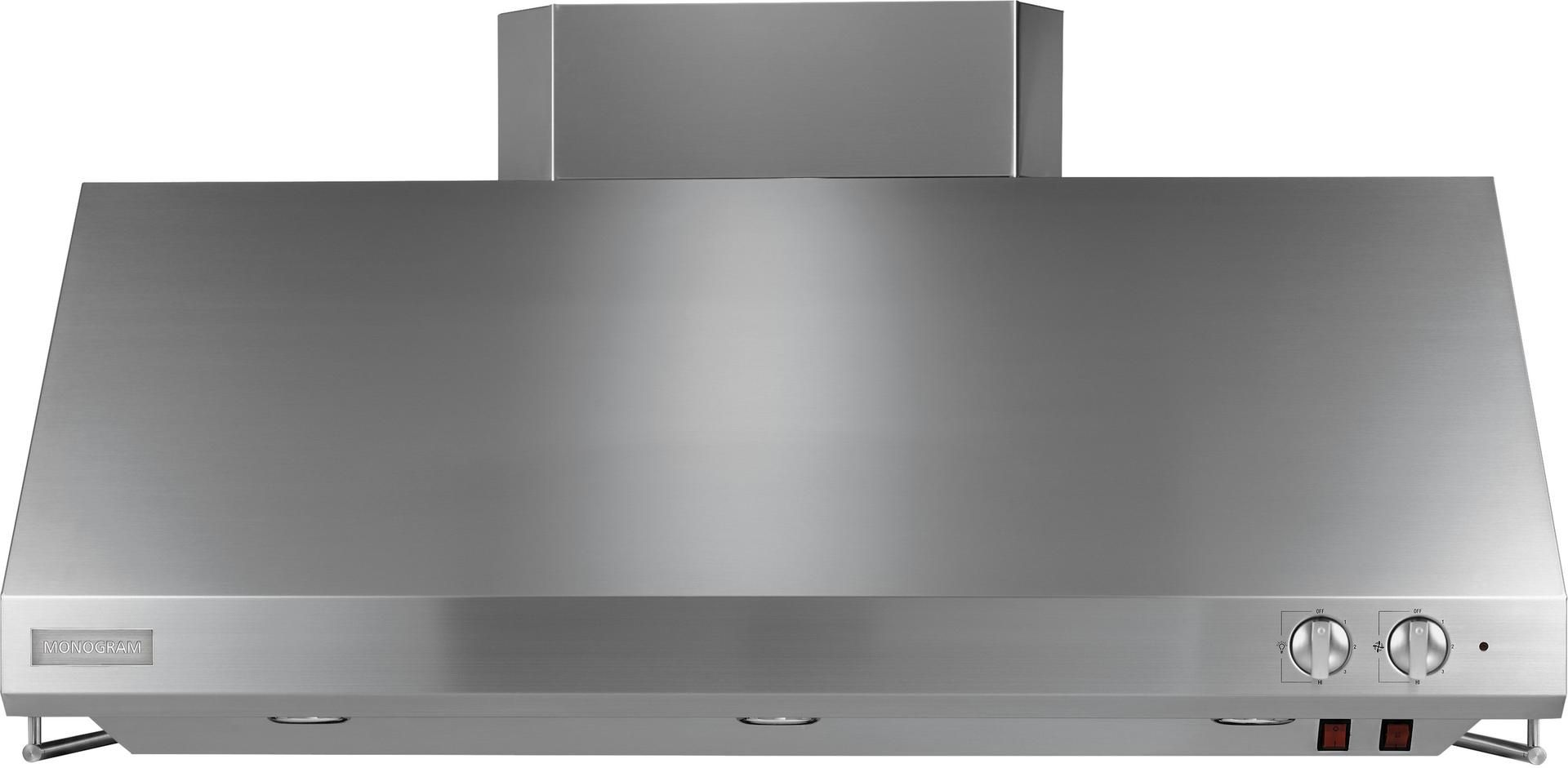 Zv48ssjss Monogram 48 Professional Hood With Utensil Racks And Removable Grease Trays Stainless Steel