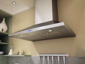 "ZVEE36CS Zephyr 36"" Venezia Wall Mount Hood with 715 CFM Blower and Baffle Filters - Stainless Steel"
