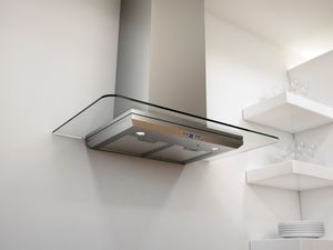"""ZVO-M90AG Zephyr 36"""" Verona Wall Mount Hood with 715 CFM Blower - Glass & Stainless Steel"""