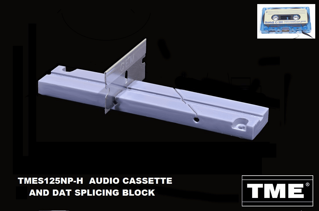 Audio Cassette and Digital Audio Tape (DAT) Splicing Blocks