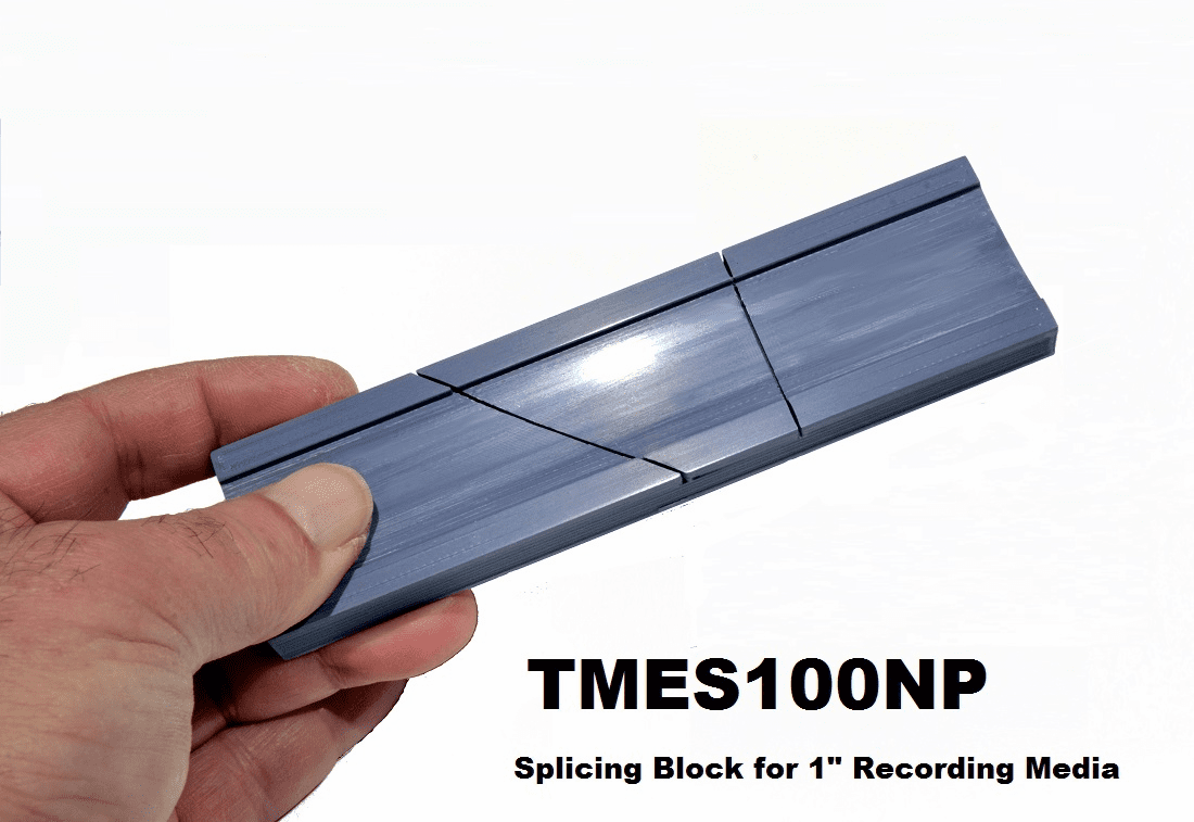 "Splicing Block for 1"" Wide Recording Media and Video"