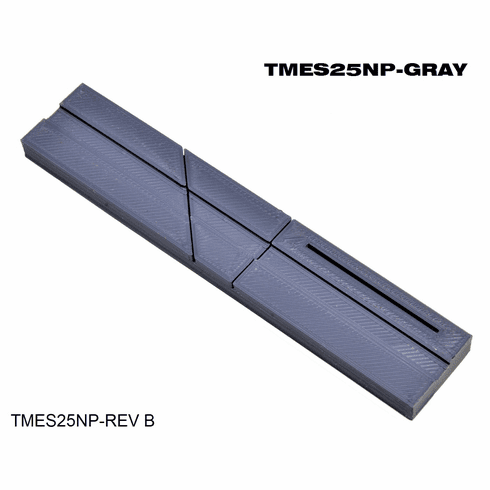 """Splicing Block, Open Reel Audio 1/4"""" Gray Full Size w Surelock™ Center Groove and Blade Keeper™ Slot by TME"""