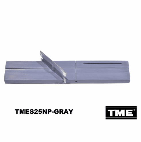 "Splicing Block, Open Reel Audio 1/4"" Gray Full Size w Surelock™ Center Groove and Blade Keeper™ Slot by TME"