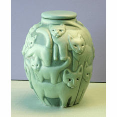 Cat Urn Available in 24 colors with hand engraving of your cats name