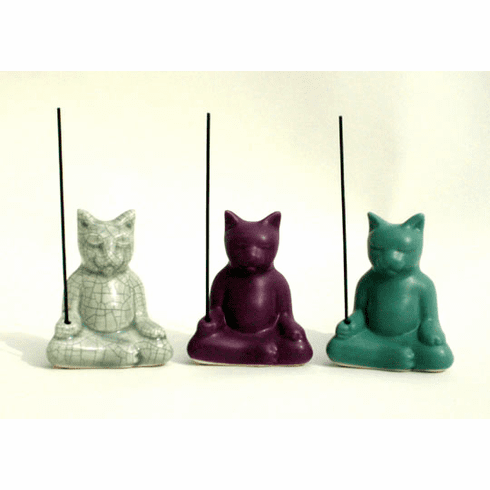 """Incense Buddha Cats: 3"""" tall  FREE shipping within the U.S.A. International orders email for shipping cost."""