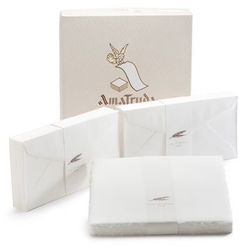 Amalfi Long Folded Note Cards with Envelopes (100 ct) (4.25 x 8.25)
