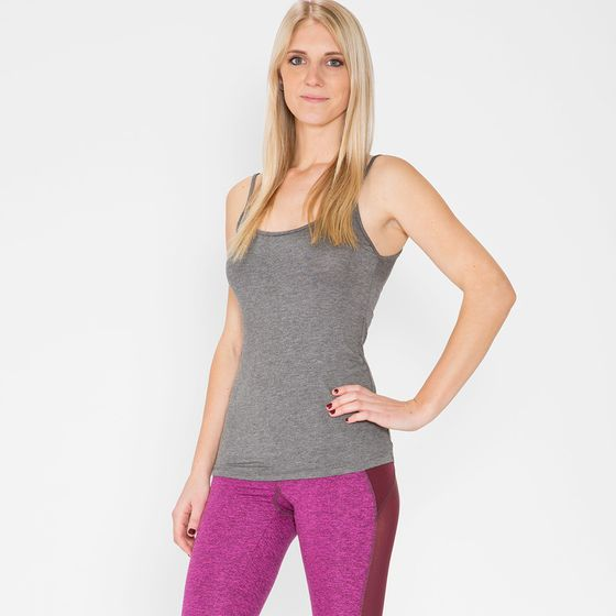 Amour Vert Camille Basic Tank ( Anthracite )